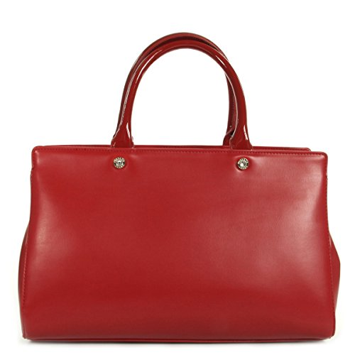 21d130f206e57 ... Handtasche Versace Jeans Linea 500 Calf Vernice Rouge
