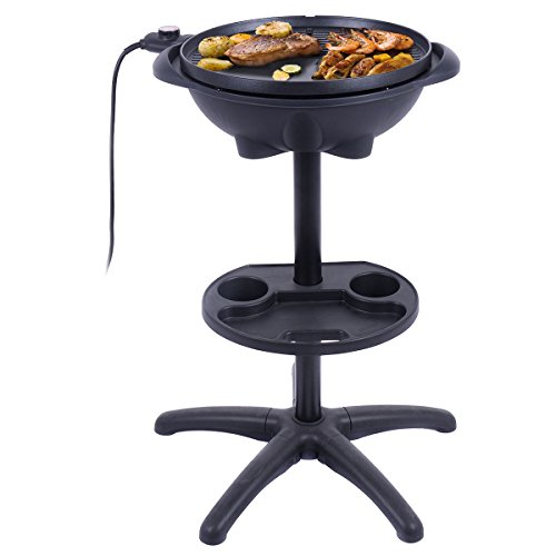 1350 W Outdoor Electric BBQ Grill with Removable Stand - By Choice Products by By Choice Products