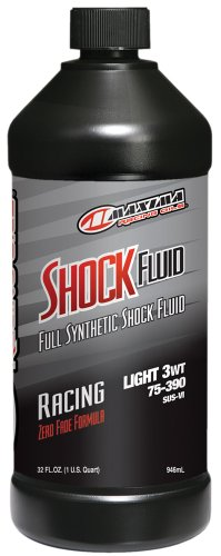 Maxima (50-57901) Medium Grade 3WT Synthetic Racing Shock Fluid – 1 Quart