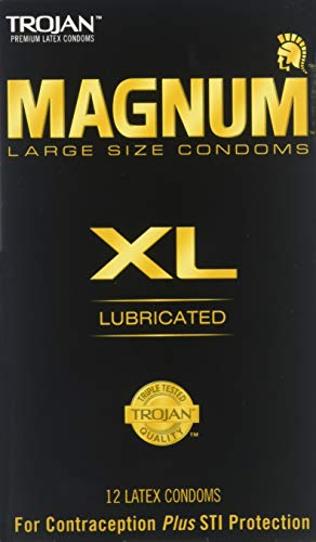 Trojan Magnum Lubricated Latex Condoms - Trojan Magnum XL Size Lubricated Latex Condoms - 12 ct, Pack of 2