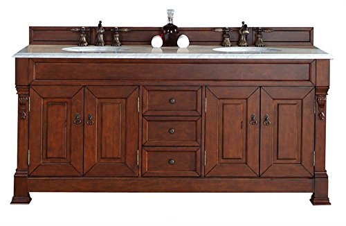 72 in. Double Cabinet in Warm Cherry Finish