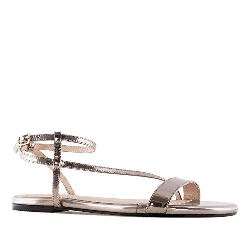 Andres Machado AM5234 Bronze Flat Sandals.Large Sizes:UK 8 to 10.5/EU 42 to 45. Bronze Patent ZpKmdNhla