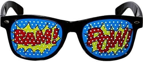 Amakando Accesorios para Disfraz Pop-Art con Gafas, moño y ...