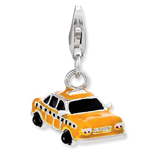 Yellow Taxi Cab Charm In...