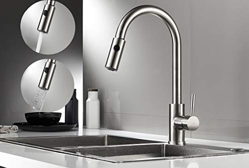 (Kitchen Tap Extendable, Aurho Tap Kitchen Sink Faucets with Shower Mixer Tap Sink Faucet Sink Tap)