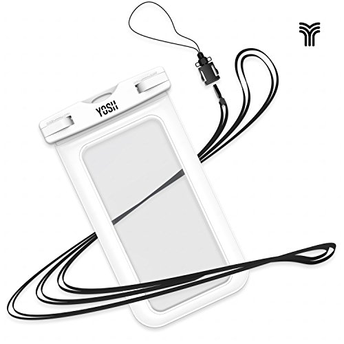 Universal Waterproof Case, YOSH Cell Phone Dry Bag Pouch for Apple iPhone 6S 6 6S Plus SE 5S Note 5 S7 S6 Edge Pixel XL LG Huawei for Smartphone up to 6 inches, White - Iphone 6 Cases From Target