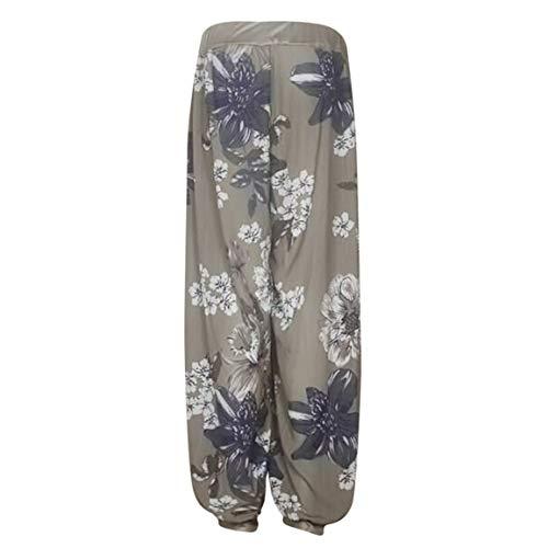 Yoga Femmes Bellelove Danse Pantalon Armeverte Pantalons Sarouel Poche De Longs Pantalons De Imprim Casual Bouton 2018 Dames Mode Large Loose Vintage Large wFYgxYrq