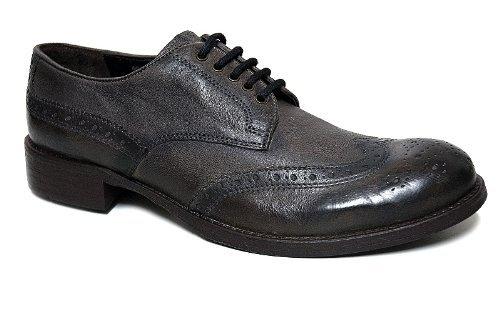 670ce6dc Cafénoir - Zapatos Hombre Cuero Elegantes Cordones Estilo Inglés Cepillado  - Talla : 43 - Color : Marrón Oscuro: Amazon.es: Zapatos y complementos
