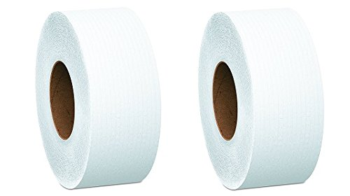 Cottonelle 07304 JRT Jr. Roll Tissue, 2-Ply, 7.9''dia, 750ft (Case of 12) (2-(Case of 12))