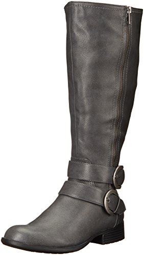 LifeStride Women's X-Must Wc Riding Boot, Grey Storm, 8.5 M US (Grey Womens Riding Boots)