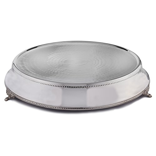 Elegance Round Tapered Wedding Cake Stand/Plateau, Silver Color, 18-Inch ()