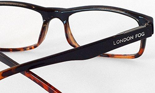 London Fog Designer Reading Glasses for Men & Women 2 PK Readers- 2.00 Strength (Red/ - Frame Size Guide Glasses
