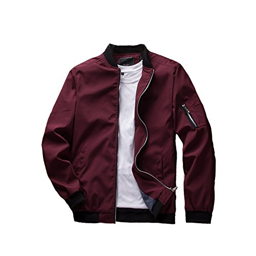 URBANFIND Men's Slim Fit Lightweight Sportswear Jacket Casual Bomber Jacket US L (Mens Bomber Jacket)