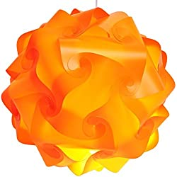 Lightingsky IQ Lamp Shade Toy Self DIY Assembled Puzzle Lights for Room Decoration (Orange, L-12 inch)