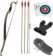 Klite Traditional Recurve Bow 53'' Archery Hunting Handmade Horse Bow Longbo