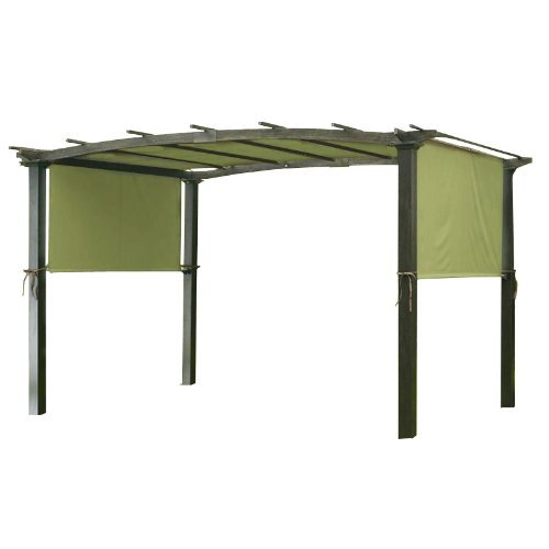 Garden Winds LCM490S Universal Pergola Structures, Sage Green Replacement Canopy