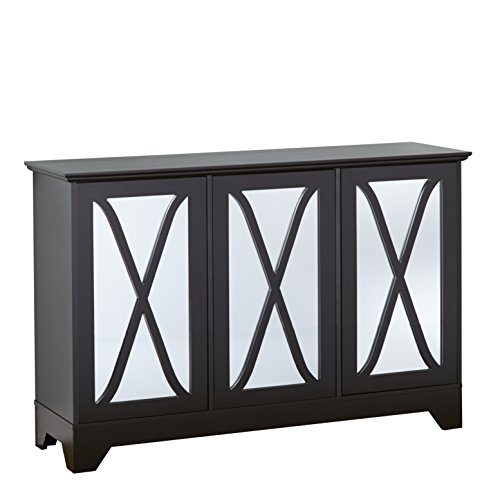 - Target Marketing Systems 31552BLK Reflections Buffet/Console with Mirror, Black
