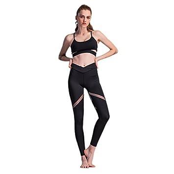 35b29da5d58a6 TOOGOO(R) Women New Fashion Heart Sexy Yoga Leggings Female Fitness Mesh  Yoga Pants