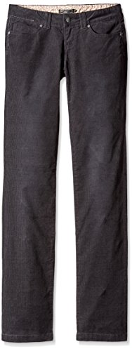 prAna Women's Tall Crossing Cord Pants, Size 4, Black