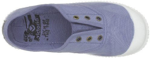 Azul casa de Zapatillas Victoria niños de Bleu Azul para tela 4TqACx