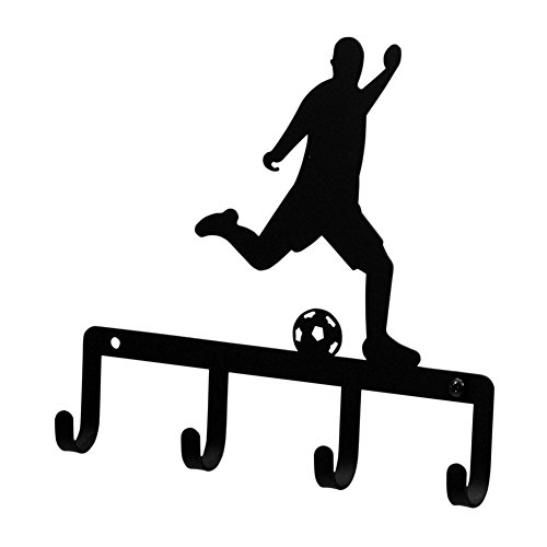 Wrought Iron Soccer Player Key Rack by IronWorks