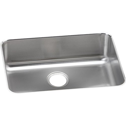 Elkay Lustertone ELUH2317 Single Bowl Undermount Stainless Steel Kitchen Sink - Lustertone Rectangular Undermount Sink