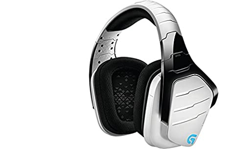 Logitech G933 Gaming Headset Artemis Spectrum 2 4 GHz Wireless 7 1 Surround  Sound Pro for PC, Xbox One and PS4 - White