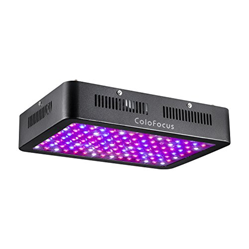 ColoFocus 600W LED Indoor Plants Grow Light Kit, Full Spectrum with UV & IR for Indoor Greenhouse Plants Veg and Flower, Plants(10W Leds 60Pcs) (Black) by ColoFocus