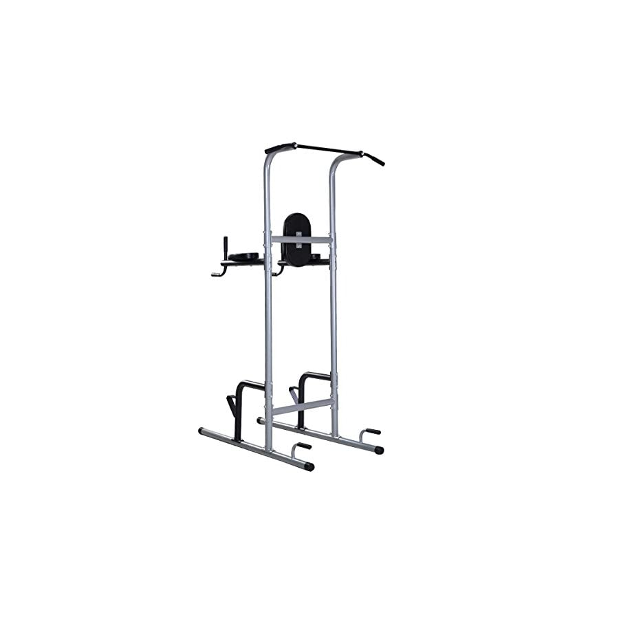 Goplus Chin Up Power Tower Rack Pull Up Stand Bar Leg Raise Home Gym Workout Weight