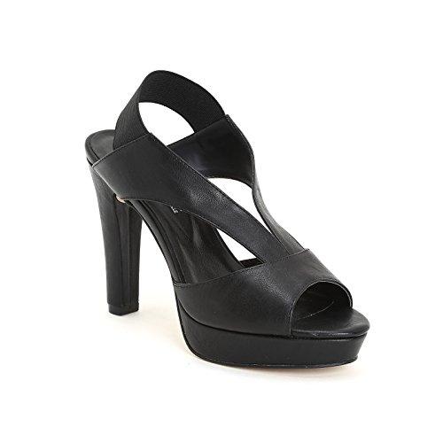 ESTRADÀ by Scarpe&Scarpe - Sandalias altas con elástico trasero, con Tacones 10 cm Negro