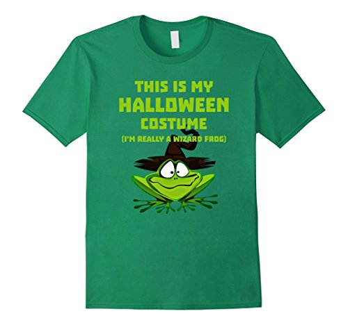 Wizard Kelly Costume (Mens Im Really Wizard Frog Halloween Shirt Costume Halloween Gift Large Kelly Green)