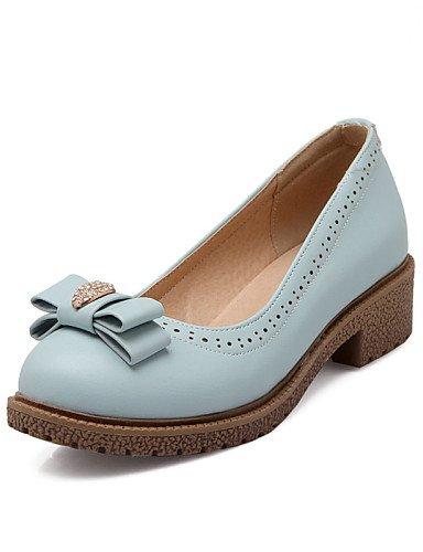 ZQ Zapatos de mujer - Tac¨®n Plano - Punta Redonda - Planos - Oficina y Trabajo / Vestido / Casual - Semicuero - Azul / Rosa / Blanco , pink-us5 / eu35 / uk3 / cn34 , pink-us5 / eu35 / uk3 / cn34 blue-us9 / eu40 / uk7 / cn41