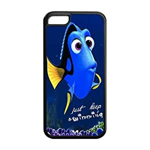 5C Phone Cases, Just Keep Swimming Hard TPU Rubber Cover Case for iPhone 5C
