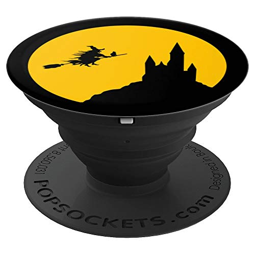 Trick or Treat Witch Haunted house Funny Halloween gifts - PopSockets Grip and Stand for Phones and Tablets -