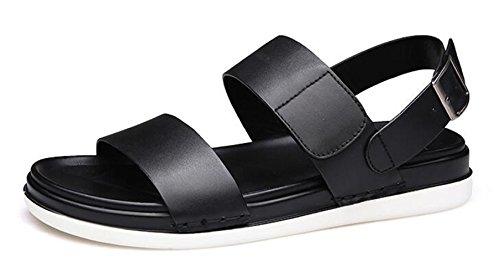 Happyshop (tm) Mens Mode Läder Pantshoes Fritid Affärs Sandaler Svart