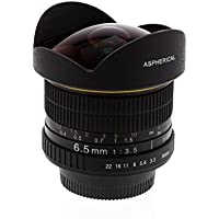 Albinar 6.5mm f/3.5 HD Aspherical Fisheye Lens for Nikon D60, D90, D300, D300s, D3000, D3100, D3200, D3300 D5000, D5100, D5300, D5500, D7000, D7100