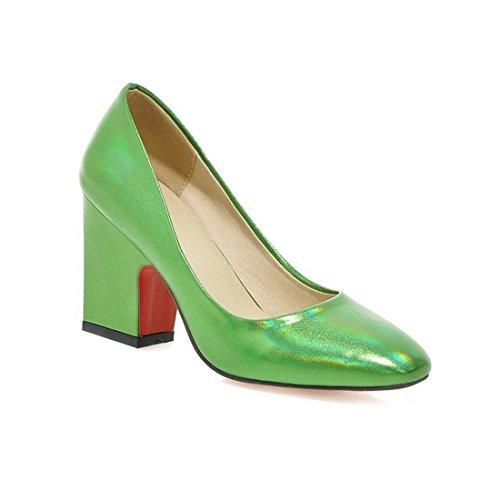 Sandalette-DEDE Europea y Americana de Zapatos de Mujer, Zapatos de Moda, Tacones Altos, Zapatos, Zapatos de Mujer. Green