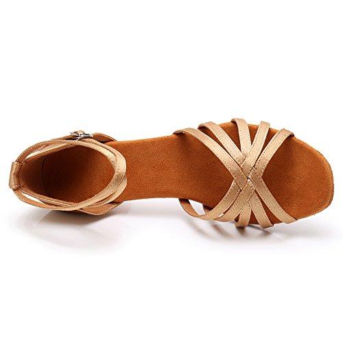 Tacón Mujer Latin Ballroom de Beige modelo LP217 5cm Estándar Zapatos Baile SWDZM n6dUpIUz