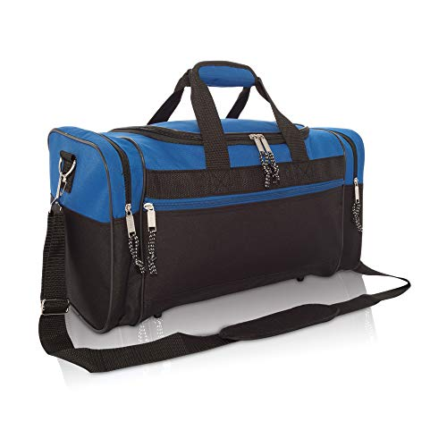 - Blank Duffle Bag Duffel Bag in Black and Royal Gym Bag