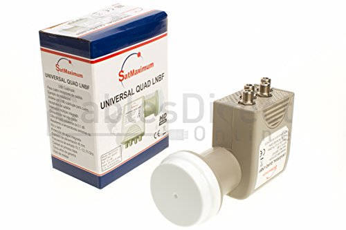 FTA Universal Ku Band LNB, Quad, 0.1dB Satellite Dish LNBF, Linear, Polarized (0.1 dB, Quad)