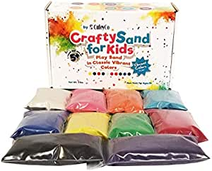 CuteyCo Crafty Sand for Kids - 10 Colors: 3 lbs of Vibrant Craft Sand & Play Sand
