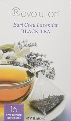 Revolution Tea Earl Grey Lavender Black Tea, 16 Count - 2 Pack