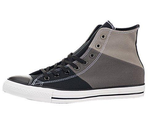 CONVERSE Men's Chuck Taylor Tri-Panel High Top Sneaker (Charcoal/Silver/Blk 12.0 M)