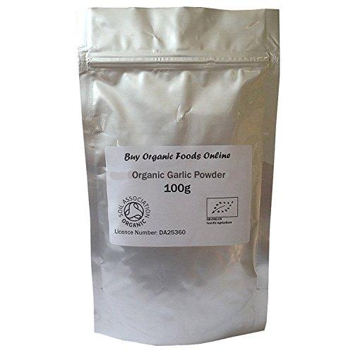 Organic Garlic Powder Soil Association Certified FREE P&P (100g Organic...