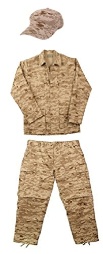 Kids Desert Camo Digital - Kids Desert Digital Camo Marines Soldier Junior G.I. Uniform (Large)