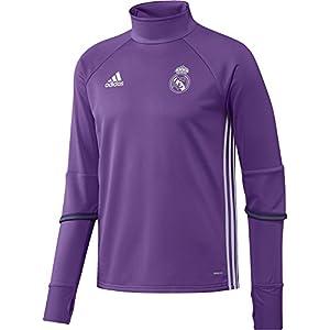 adidas Real Madrid CF TRG Sudadera, Hombre, MoradoBlanco, M