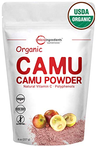 Peruvian Pure Organic Camu Camu Powder, (Natural Vitamin C Powder), 8 Ounce, Powerful Energy and Immune System Booster. Non-Irradiated, Non-Contaminated, Non-GMO and Vegan Friendly. Review