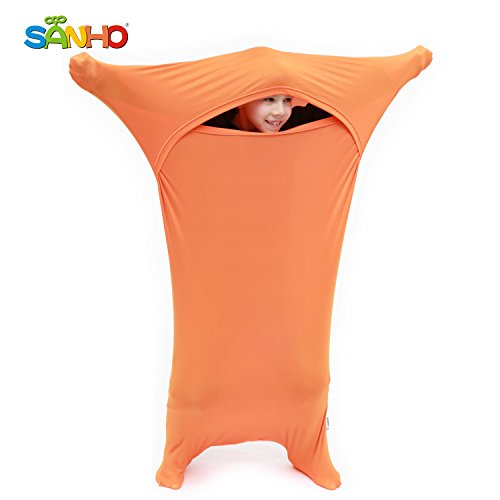 Sanho Premium Sensory Sock,Updated Version, Large, 70 L x 28 W, Good for Height: 63+ Orange