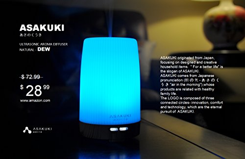2017-ASAKUKI-Premium-Essential-Oil-Diffuser-5-In-1-Ultrasonic-Aromatherapy-Fragrant-Oil-Vaporizer-Purifies-and-Humidifies-The-Air-Timer-and-Auto-Off-Safety-Switch-7-LED-Light-Colors-100ML