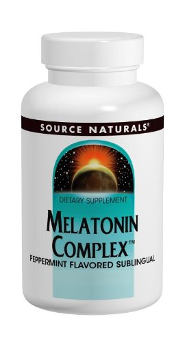 Sublingual Peppermint 200 Tablets (Source Naturals Melatonin Complex, Peppermint, 100 Tablets (Pack of 2) (Packaging may vary))